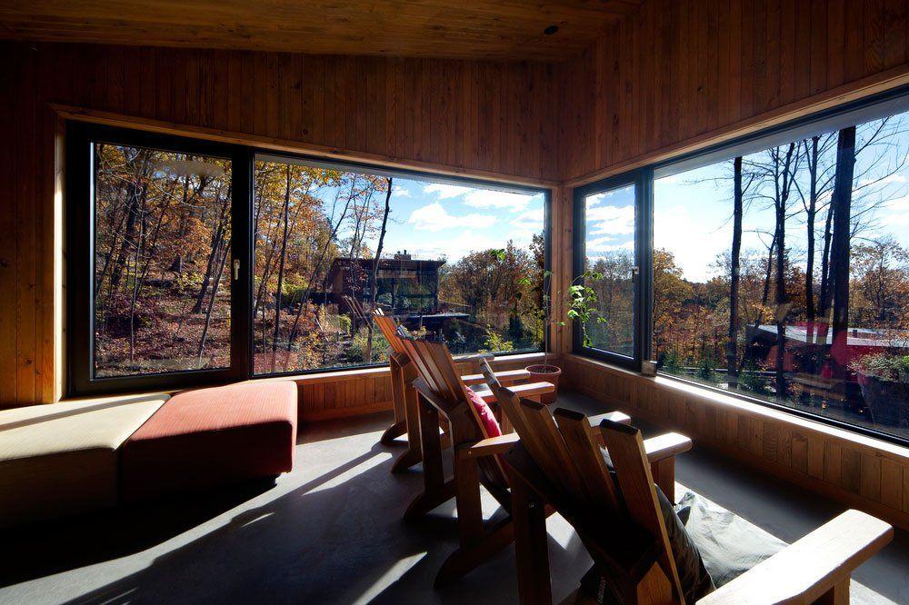 La Source Massage Pavilion By Blouin Tardif Architecture View Spa Relaxing Architecte Architecture Pavillon