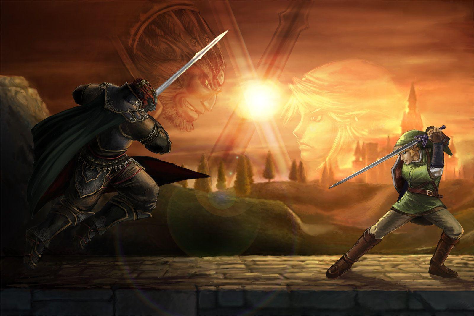 Link Vs Ganondorf By Yamao On Deviantart Legend Of Zelda