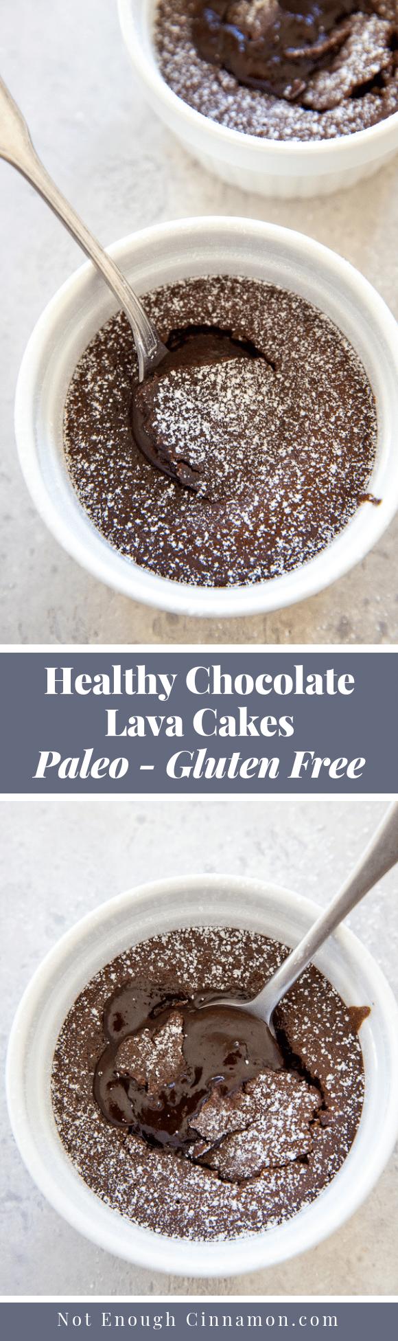 Healthy Chocolate Lava Cakes