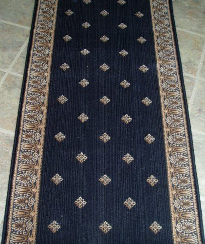 Amz108 Rug Depot Remnant Runners 31 X 4 7 Stanton Royal Sovereign Harry 23168 Charcoal Background Machine Made Of 100 Woo Home Kitchen Kitch
