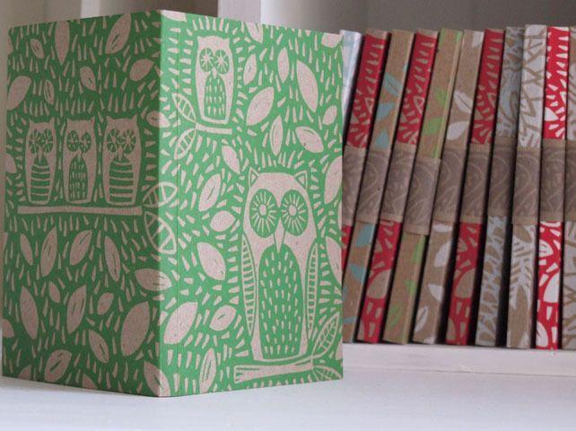 Owl Notebook, handprinted £4.50