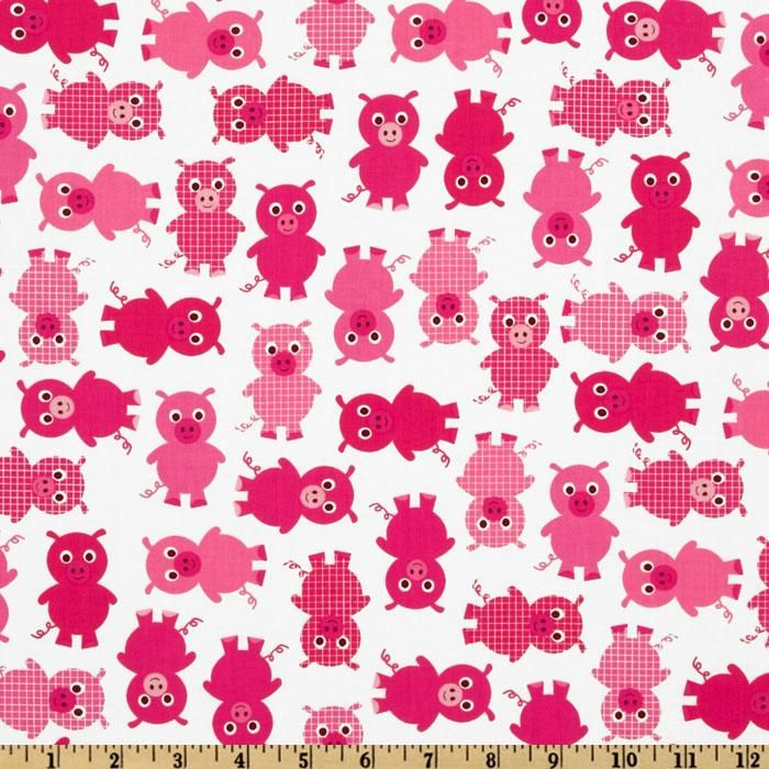 Urban Zoologie Baby Pigs Pink