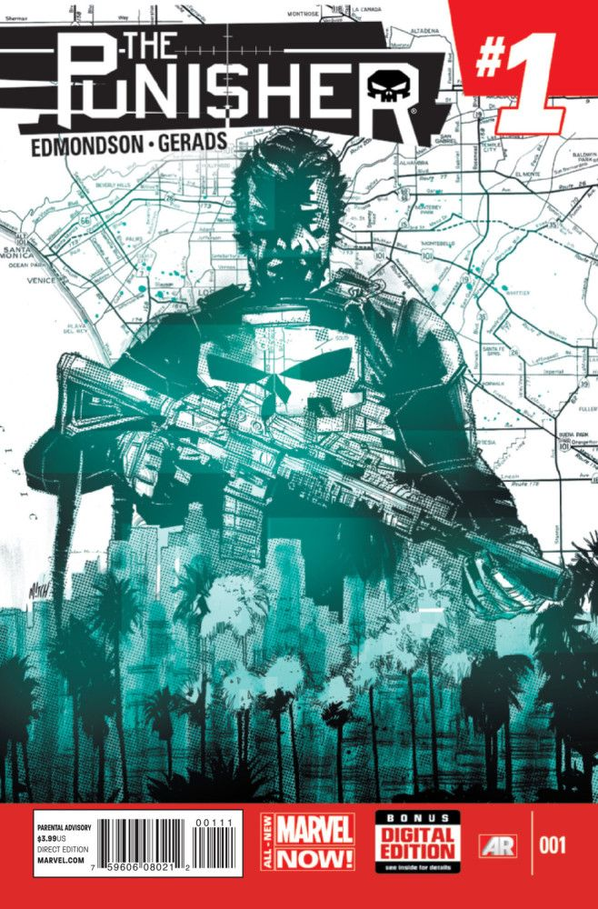 Punisher (2014) #1 cover by Mitch Gerads. All-New Marvel NOW! Click to see a preview.