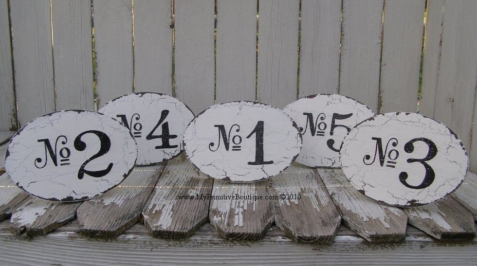 Vintage WEDDING TABLE NUMBERS Shabby Chic Wedding Signs Vintage ...