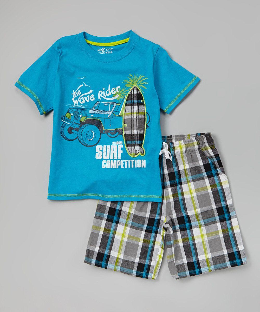 b5b72d13 Love this Hawaiian 'Wave Rider' Tee & Plaid Shorts - Infant, Toddler & Boys  by Longstreet on #zulily! #zulilyfinds. $14.99