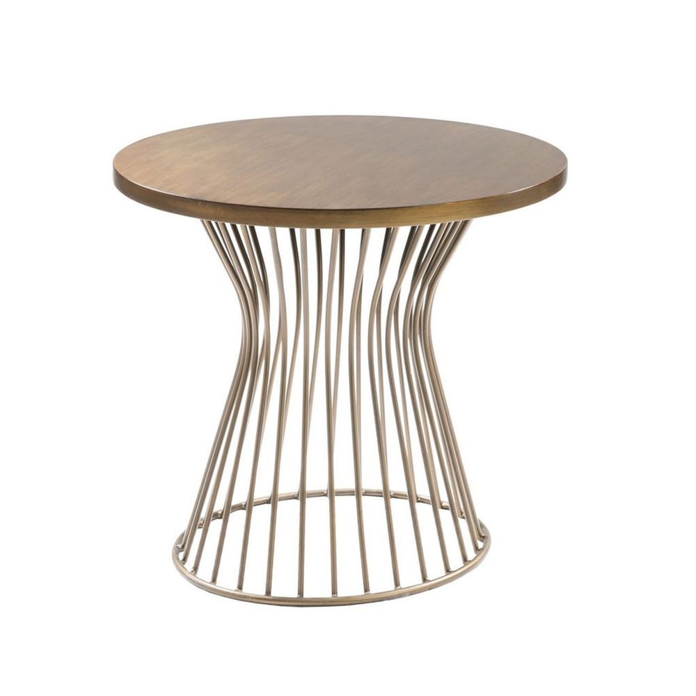Metal Wired Base End Table #midcentury | wood to your mother ...