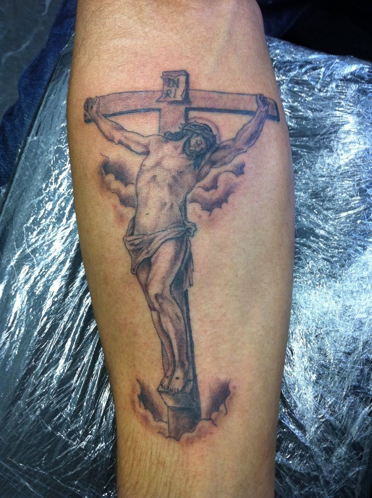 Rosary tattoos for men on arm - Jesus Tattoo