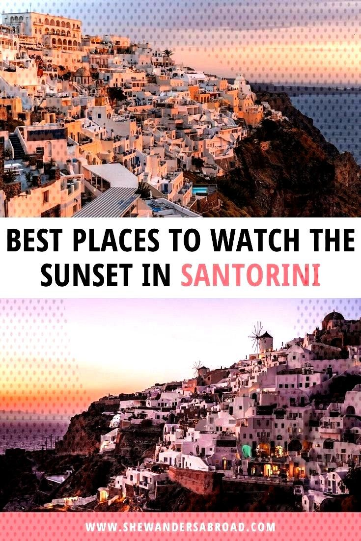Places to Watch the Sunset in Santorini | She Wanders Abroad I'm sure you've already heard that the