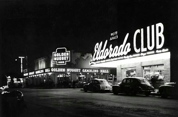 Late 1940s - Glitter Gulch at night