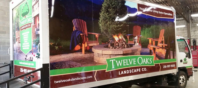 Box truck wrap for Twelve Oaks Landscape Co. located in Fort Payne, AL.  #vehiclewrap #wrap #graphicdesign #boxtruck - Box Truck Wrap For Twelve Oaks Landscape Co. Located In Fort Payne