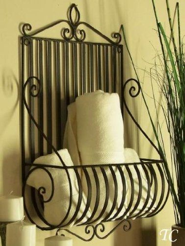 Amazon Com Mediterranean Tuscan Wrought Iron Metal Wall Planter