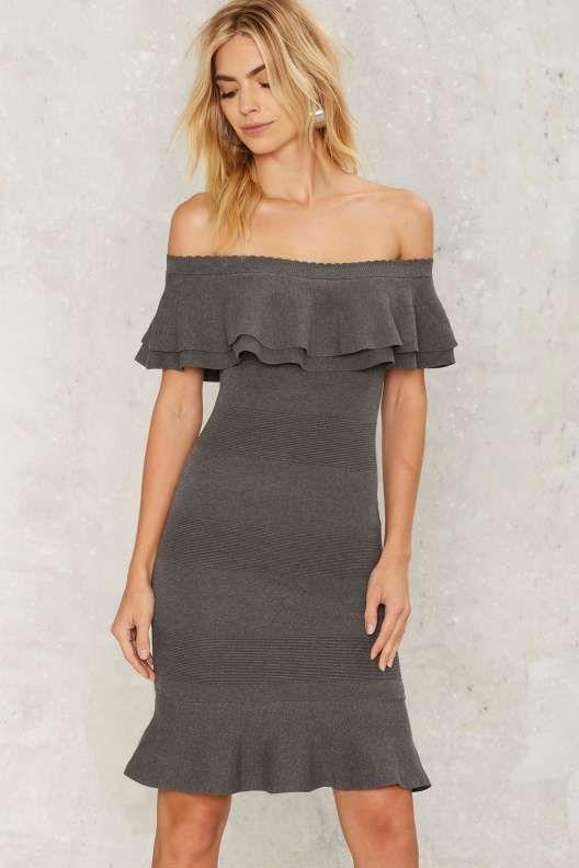 Alix Off-the-Shoulder Midi Dress