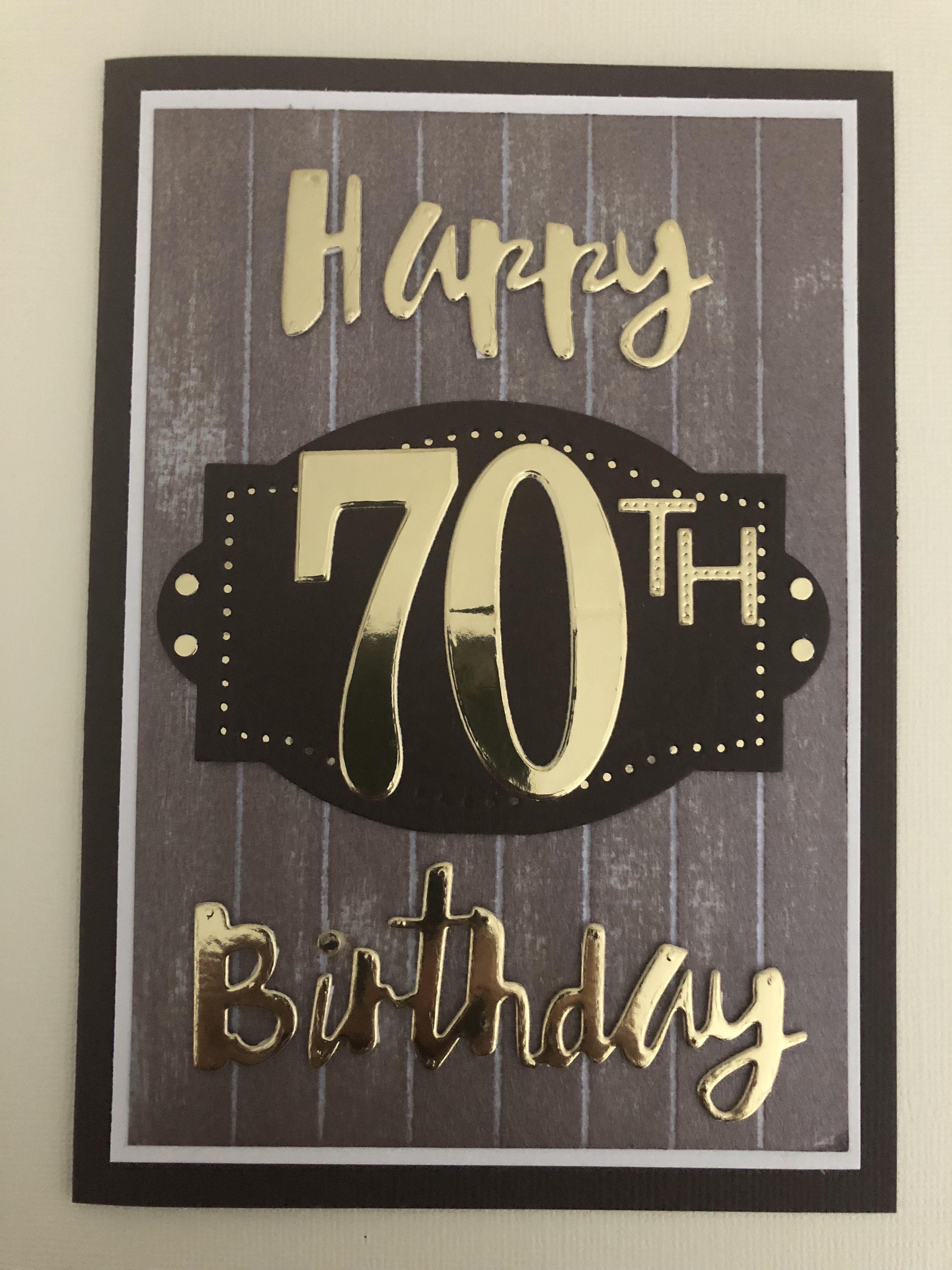 70th Birthday Card By Elizabeth 70th Birthday Card Birthday Cards For Men 60th Birthday Cards