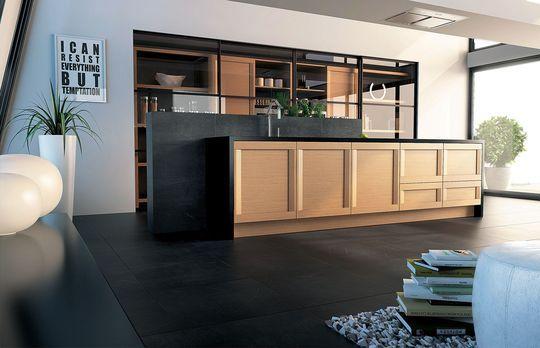 cuisine semi ouverte sur salon avec bar les nouvelles id es. Black Bedroom Furniture Sets. Home Design Ideas