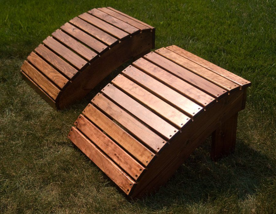 Adirondack Footstool Only Adirondack Chair Plans, Adirondack Rocking Chair,  Diy Outdoor Furniture, Cedar