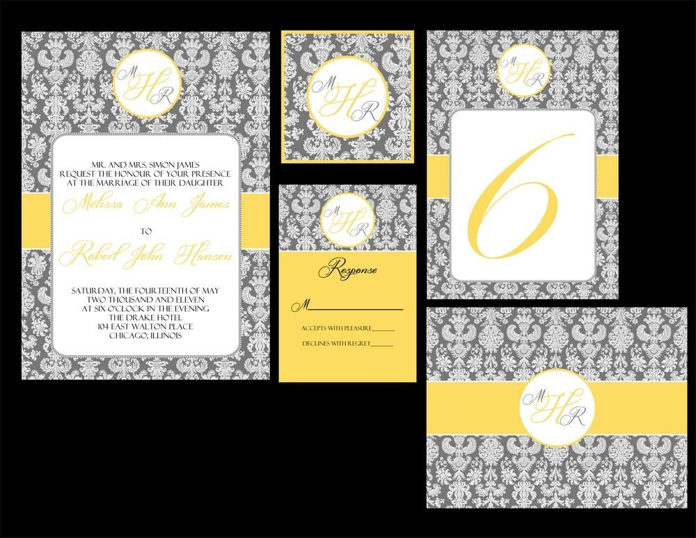 Custom order for Nadia-Deluxe Devotion Printable wedding invitation set. $65.00, via Etsy.