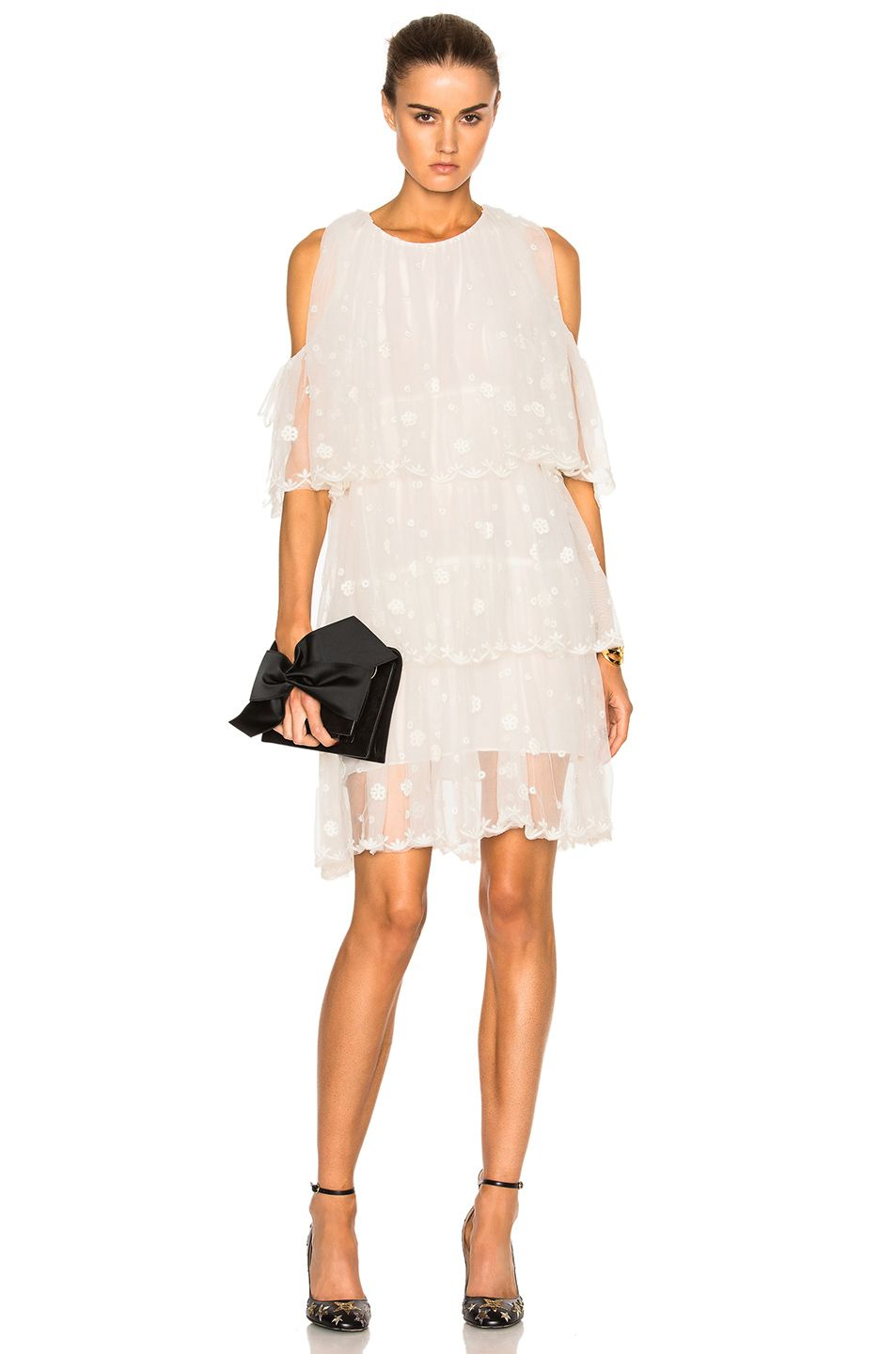 Naoko Alice Items Dress in White Isabel Marant Low Shipping Cheap Online Outlet For Nice MKnZfPgFdP