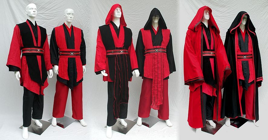 2a8623ef98 Custom ordered mix and match red and black sith costumes