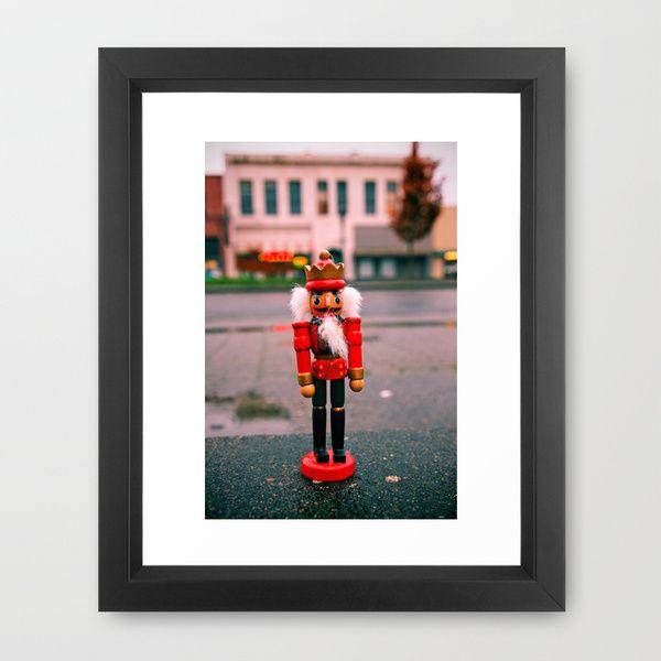 Sidewalk nutcracker Framed Art Print