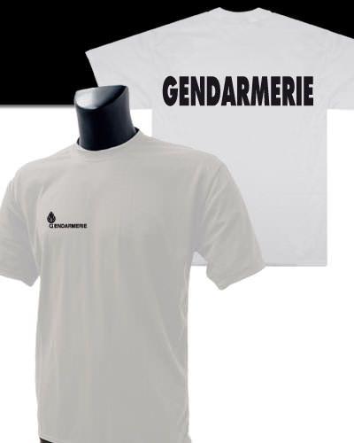 Nationaletee Shirt Blanc Tee Imprimé Gendarmerie Nny80wvmO