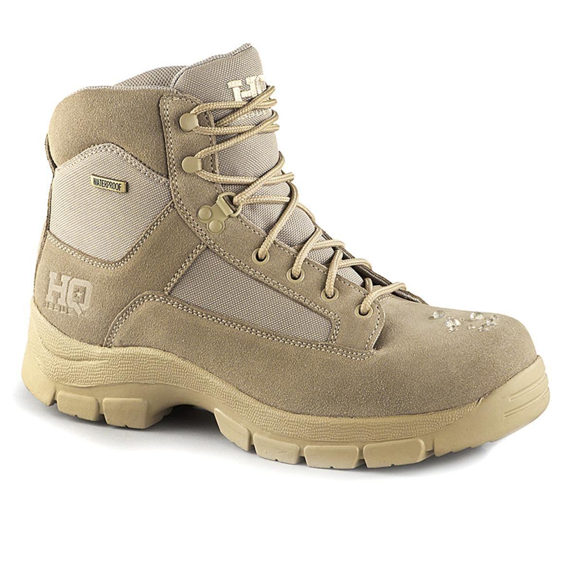 Hq Issue Men S Waterproof 6 Desert Tactical Boots Desert Combat Boots Boots Combat Shoes