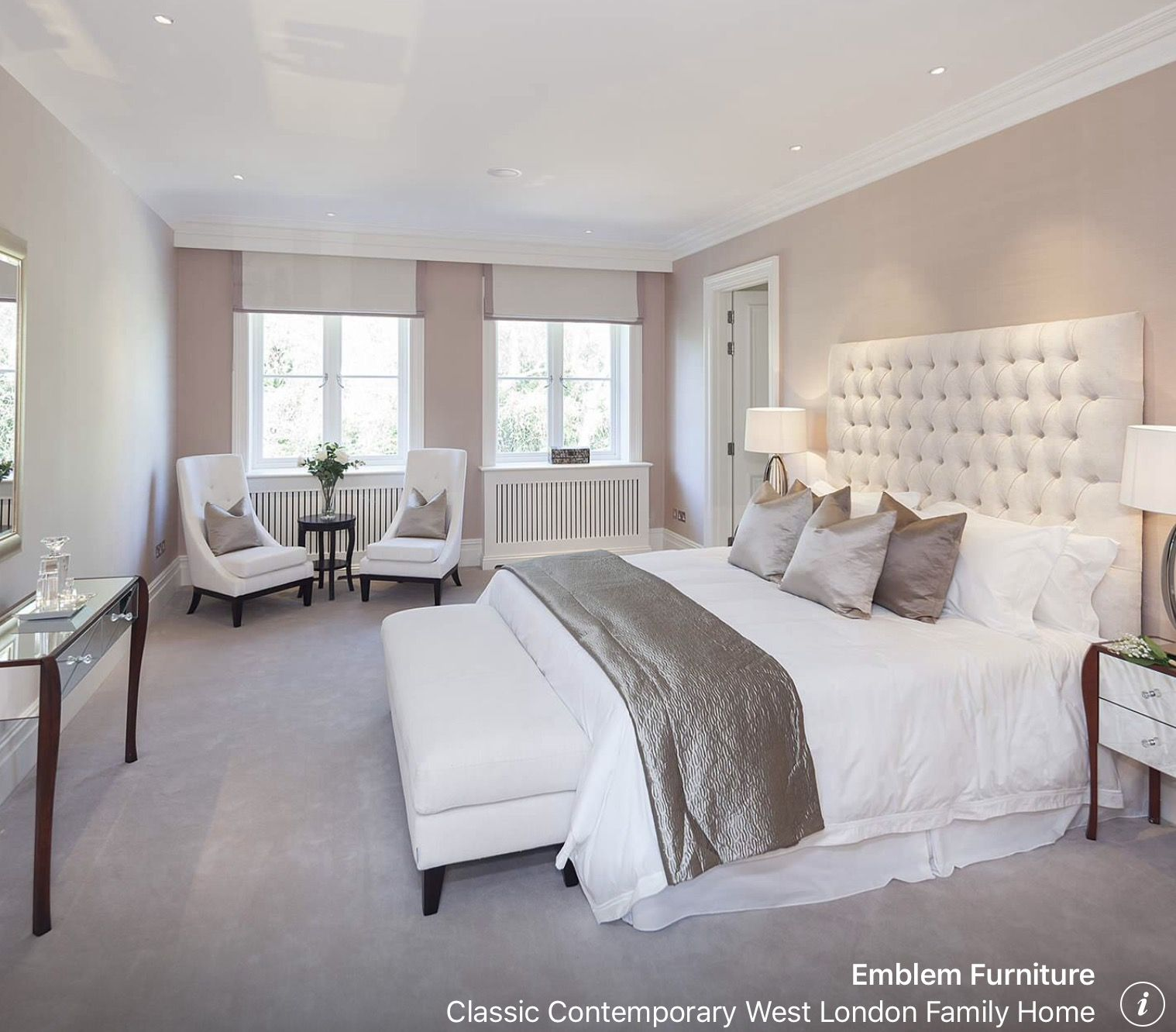 Cream and pink with grey en 2019 | Deco chambre, Chambre ...