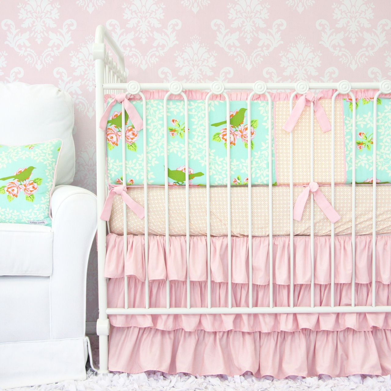 Caden Lane Baby Bedding Vintage Songbird Baby Bedding