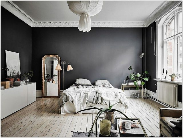 moderniser un appart ancien inspirations et id es d co peintures sombres parquet clair et. Black Bedroom Furniture Sets. Home Design Ideas