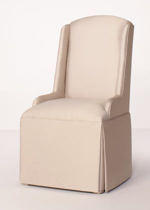 Wing Chair Parsons Chairs Dining Room, Skirted Parsons Chairs Dining Room Furniture