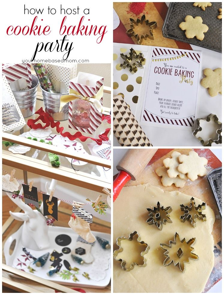 christmas cookie baking party ideas