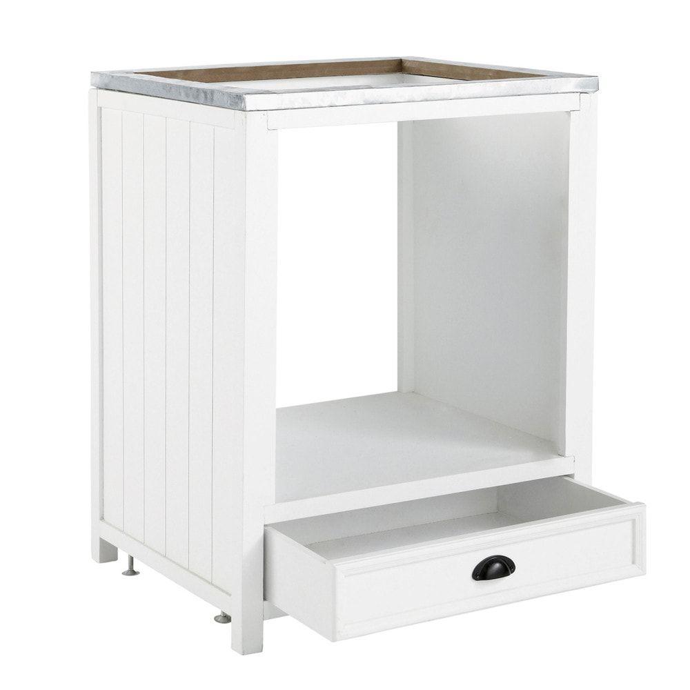 Meuble Sous Plaque Four Ikea mueble bajo de horno blanco de madera an.70 newport | meuble
