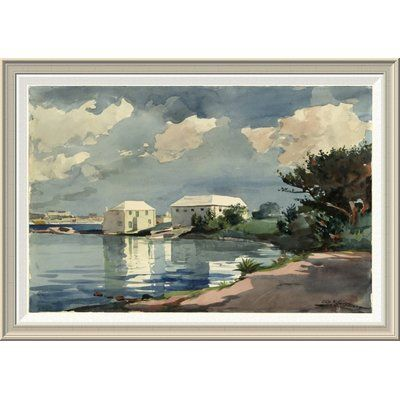 "Global Gallery 'Salt Kettle Bermuda' by Winslow Homer Framed Painting Print Size: 28"" H x 40"" W x 1.5"" D"