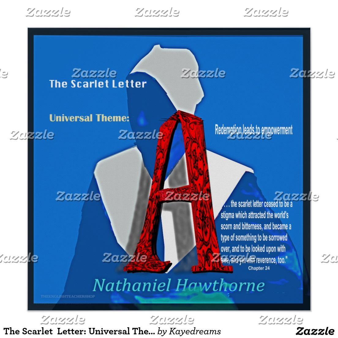 The Scarlet Letter Universal Theme Lettering, Photo