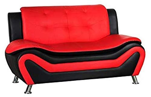 Enjoy exclusive for Kingway Furniture Gilan Faux Leather Living Room Loveseat  Black  Red online - Stargreatshopping#black #enjoy #exclusive #faux #furniture #gilan #kingway #leather #living #loveseat #online #red #room #stargreatshopping