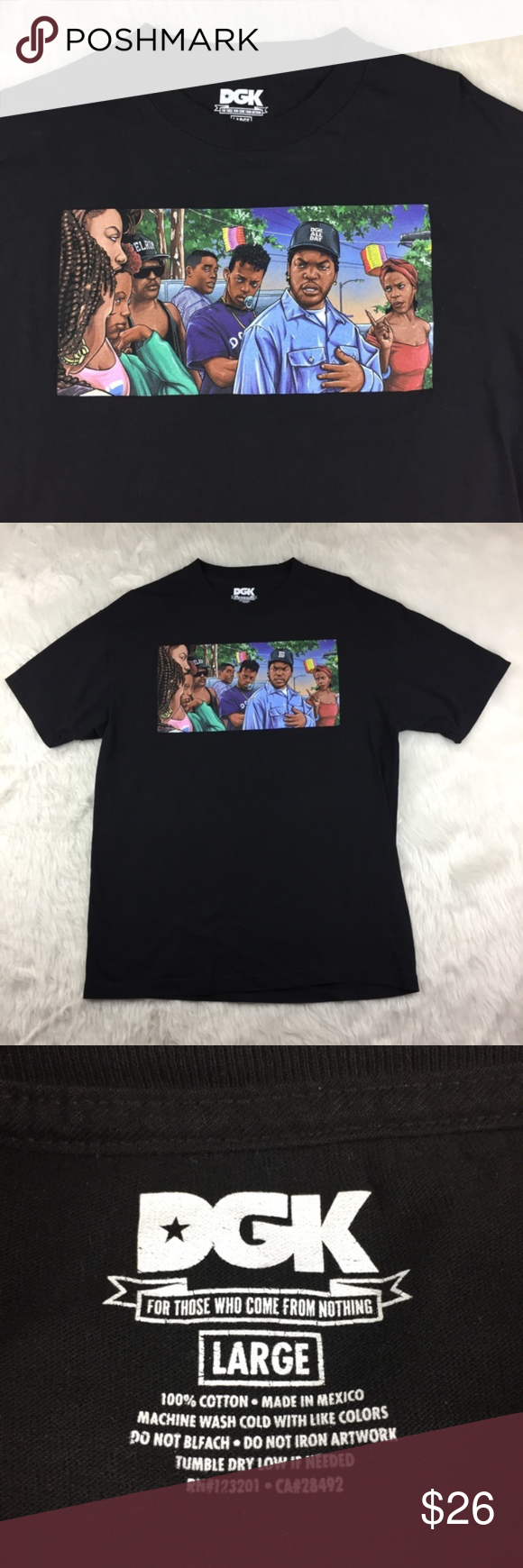Dgk Ghetto Classics Friday Doughboy Ice Cube Shirt Size Large