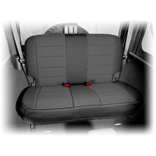 Black Neoprene Rear Seat Cover Fits 2007 2018 2 Door Jeep Jk Wrangler 13265 01 Ebay Jeep Seats Jeep Seat Covers Neoprene Seat Covers