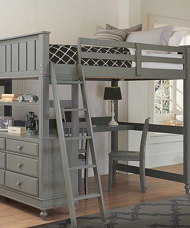 Zulily Cute Desk Under A Full Size Loft Storage Maybe Add