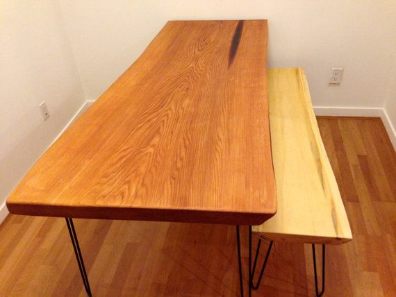 Live Edge Reclaimed Cedar Table WxLxH-Live Edge Yellow