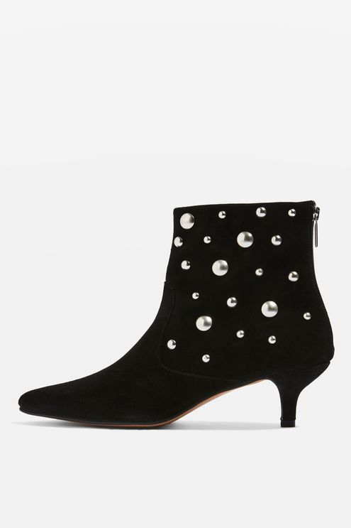 Ascot Studded Suede Ankle Boots Boots Kitten Heel Ankle Boots Suede Ankle Boots