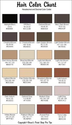 Rgb And Hex Codes For Different Skin And Hair Tones Art General Hair Color Chart Skin Color Palette Skin Color Chart