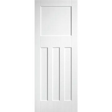 White Fire Door Dx 30 S Shaker Panelled Door 1 2 Hour Rated White Primed White Internal Doors Internal Doors 4 Panel Doors