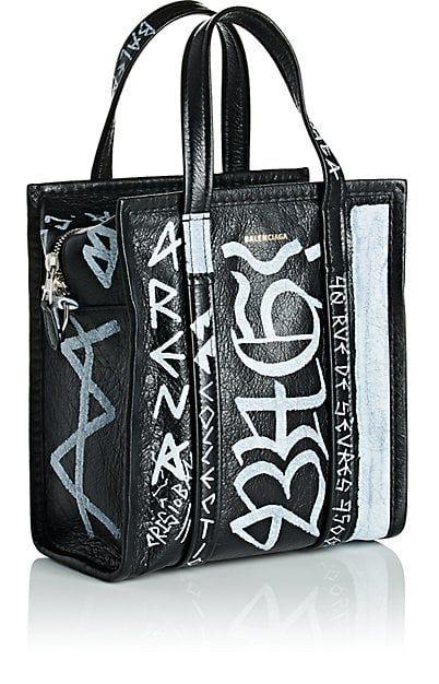 06224322356d Balenciaga Arena Leather Bazar Extra-Small Shopper Tote Bag - Tote Bags -  505825708