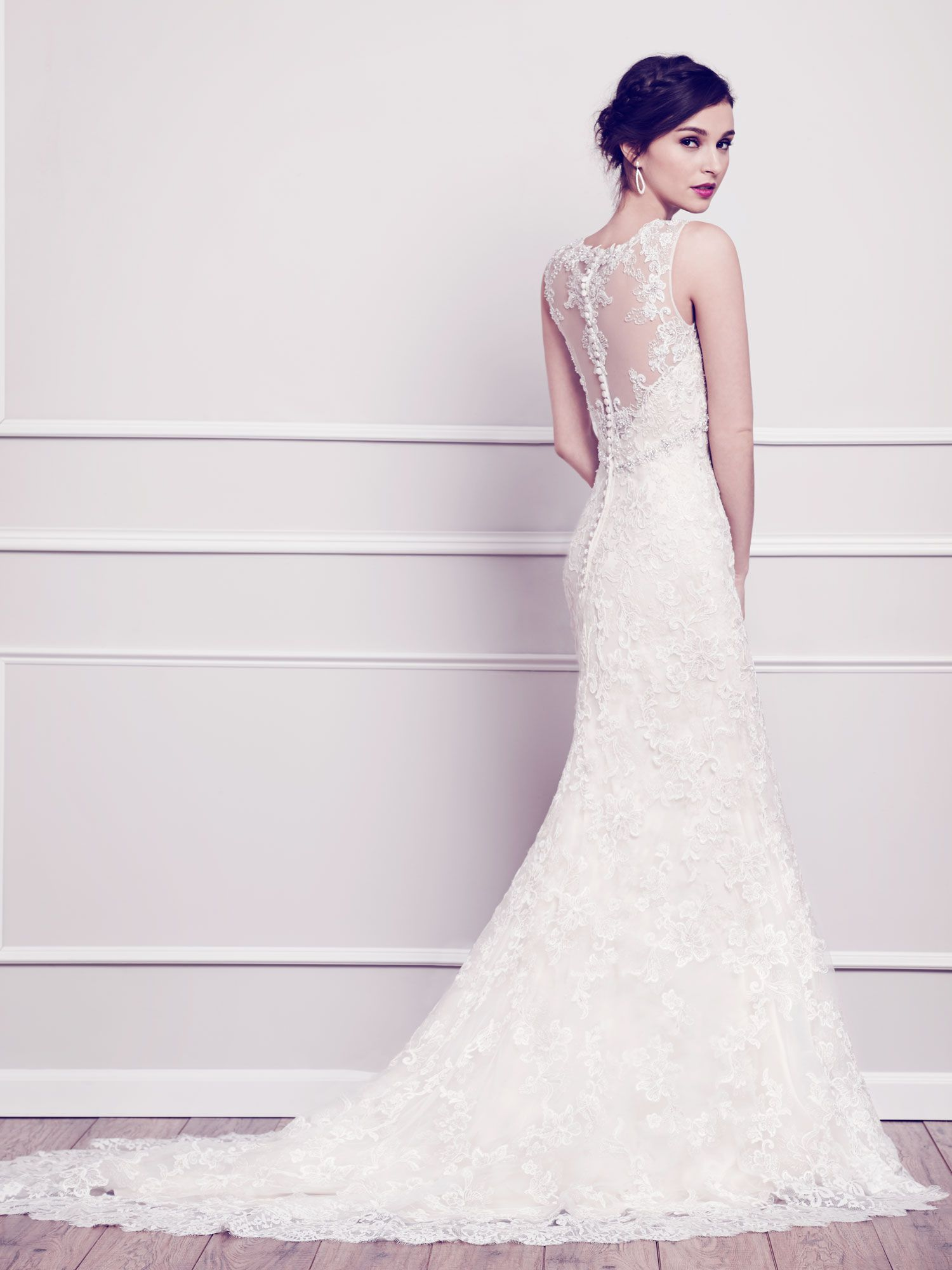 Sheer top wedding dress  Kenneth Winston  Private Label By G  The dress  Pinterest