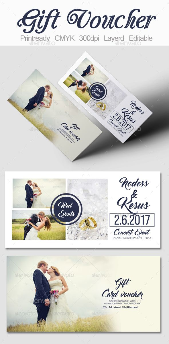 Wedding Gift Voucher Template PSD Download Here