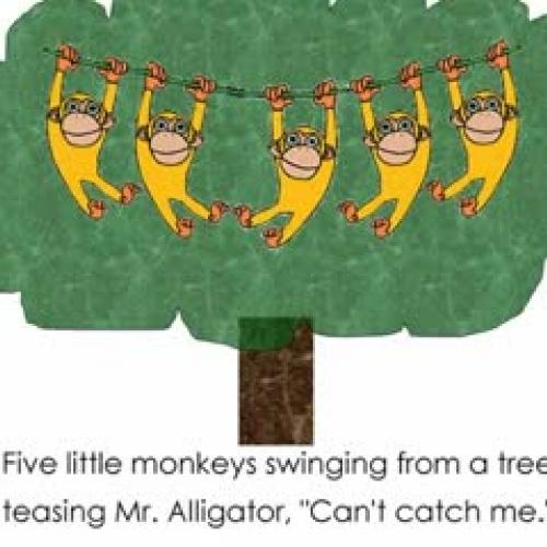 Poems monkey swinging in a tree