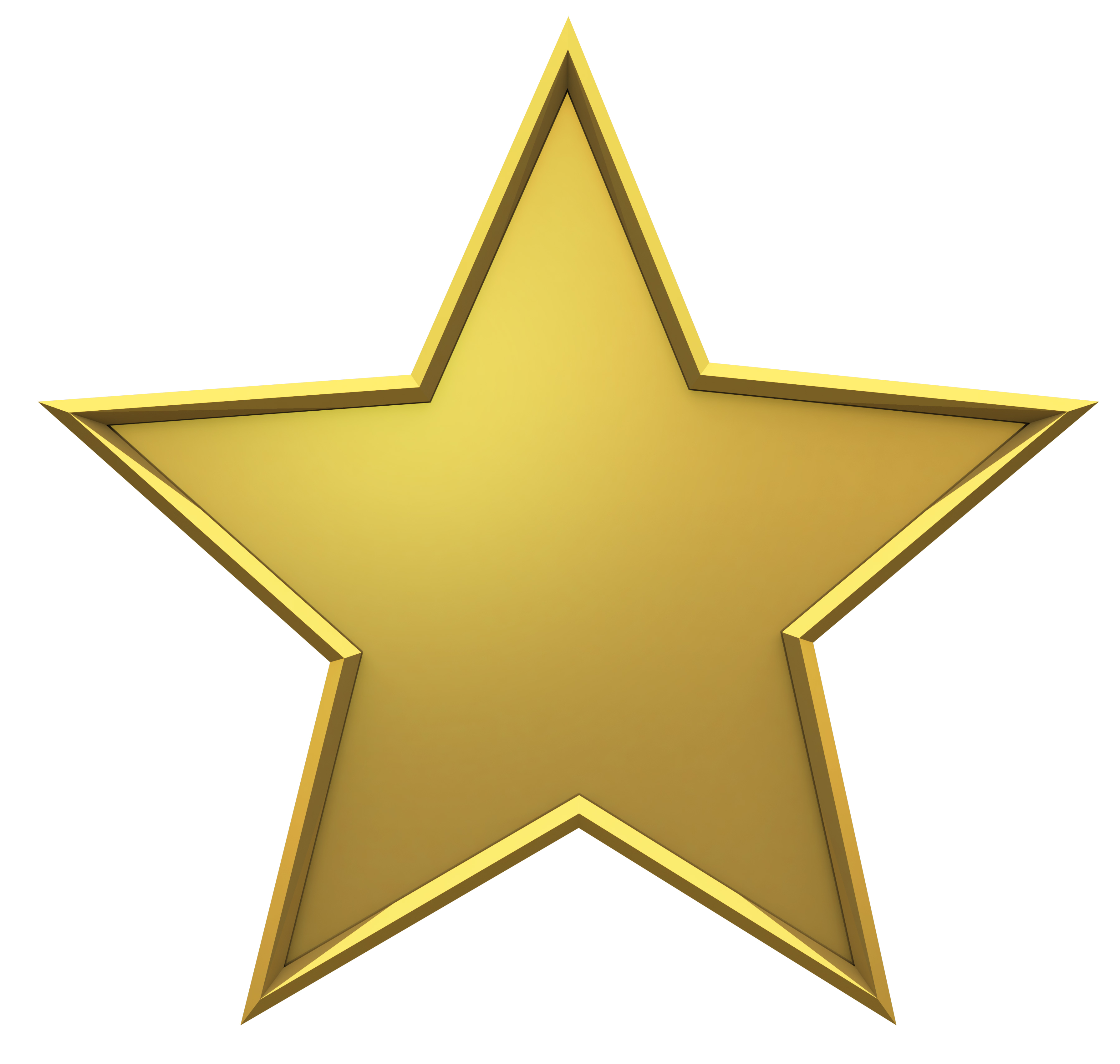 Gold Star PNG Image Gold stars, Star template, Stars