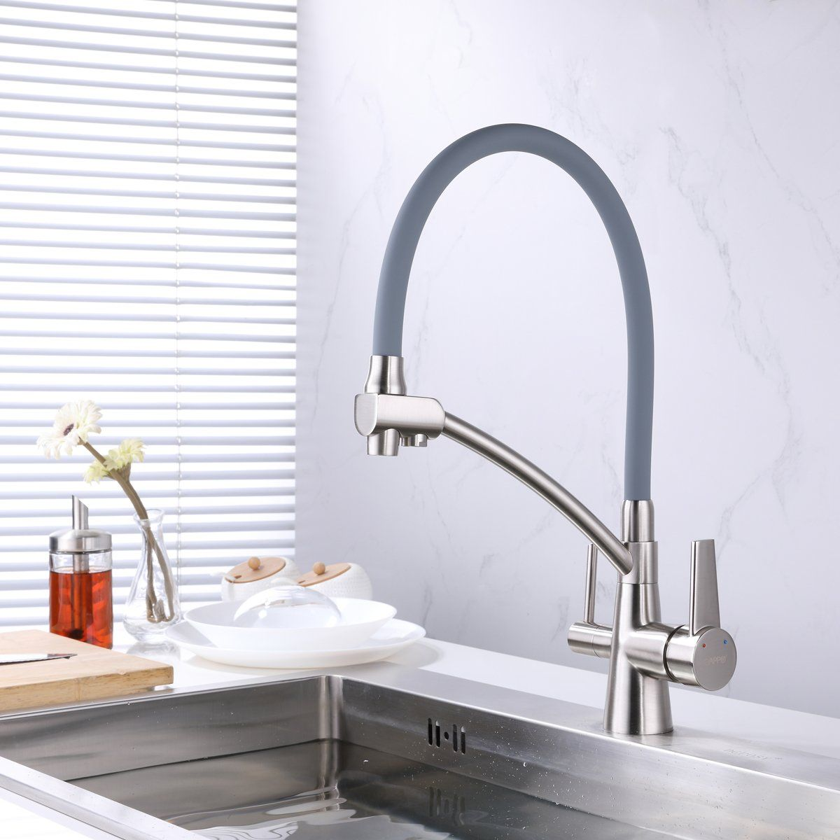 Gappo Pull Out Kitchen Faucet With Lead Free Drink Water Filter Function Brushed Nickel Check Out The Image By Visi With Images Pull Out Kitchen Faucet Kitchen Sink Taps