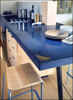 Inlays Add A Personal Touch And Make Concrete Countertops Unique To The  Owner. Photo By