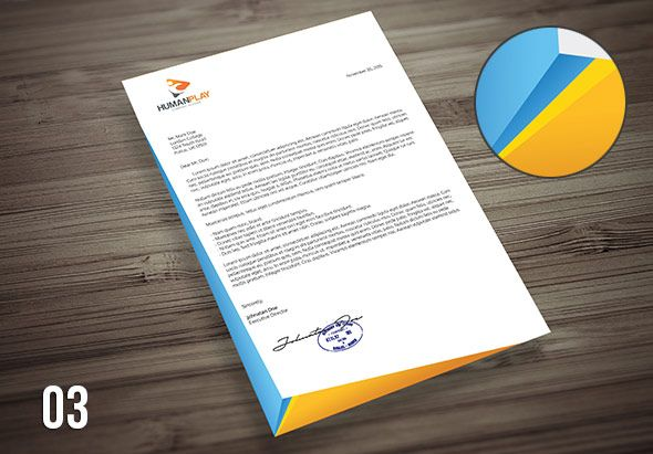 corporate letterhead design template – Stationery Templates for Designers