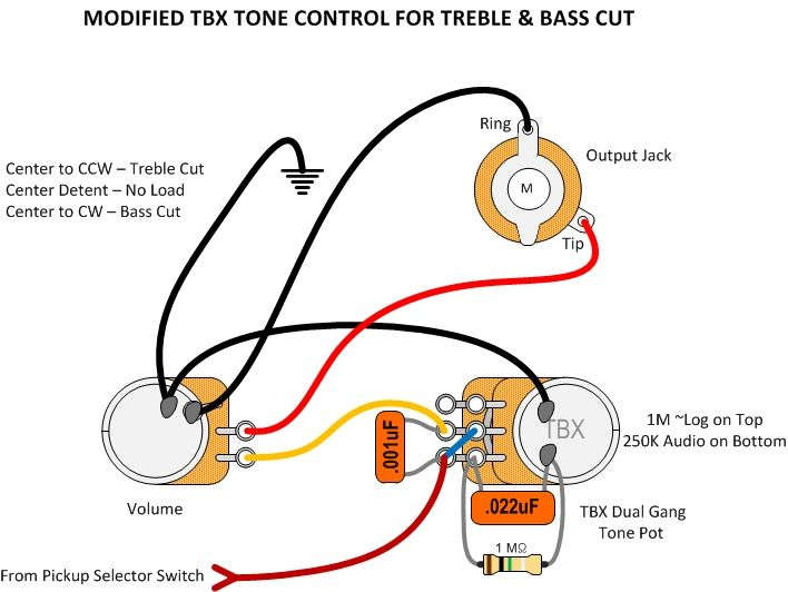 selector switch wiring diagram pedal modified tbx tone control wiring luthier guitar  modified tbx tone control wiring